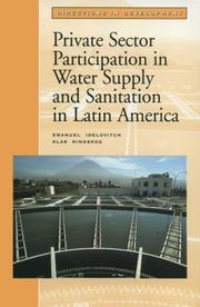 Cover of: Private sector participation in water supply and sanitation in Latin America
