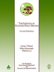 Cover of: The greening of economic policy reform | Jeremy J. Warford