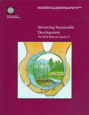 Cover of: Advancing sustainable development |