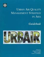 Cover of: Urban air quality management strategy in Asia |