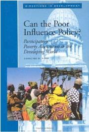 Cover of: Can the poor influence policy? | Caroline M. Robb
