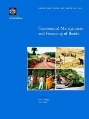 Cover of: Commercial management and financing of roads
