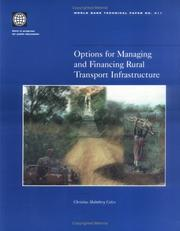 Cover of: Options for managing and financing rural transport infrastructure
