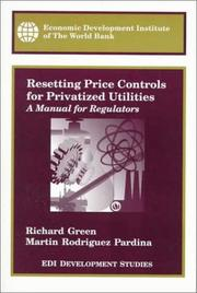 Cover of: Resetting price controls for privatized utilities