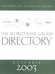 Cover of: The World Bank Group directory
