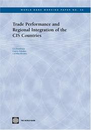 Cover of: Trade performance and regional integration of the CIS countries