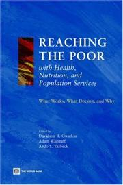 Cover of: Reaching the poor with health, nutrition, and population services
