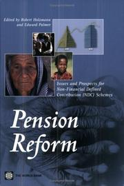 Cover of: Pension reform