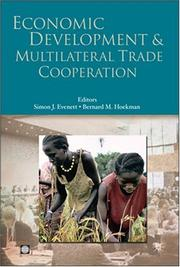 Cover of: Economic development and multilateral trade cooperation
