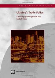 Cover of: Ukraine's Trade Policy