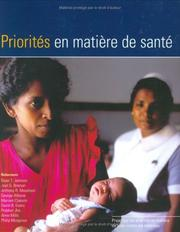 Cover of: Priorities in Health
