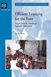 Cover of: Efficient Learning for the Poor