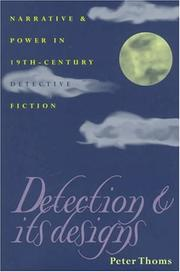 Cover of: Detection & its designs | Peter Thoms