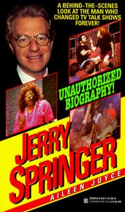 Cover of: Jerry Springer