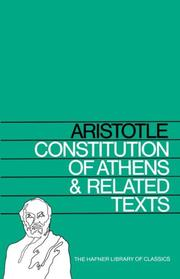 Constitution d'Athènes by Aristotle