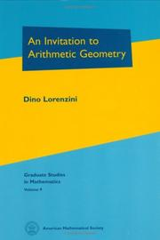 Cover of: An invitation to arithmetic geometry
