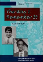 Cover of: The way I remember it