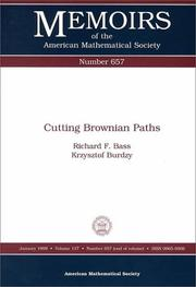 Cover of: Cutting Brownian paths