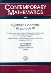 Cover of: Algebraic geometry, Hirzebruch 70