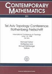Cover of: Tel Aviv Topology Conference, Rothenberg festschrift