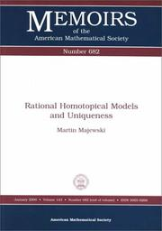 Cover of: Rational homotopical models and uniqueness