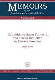 Cover of: Non-additive exact functors and tensor induction for Mackey functors