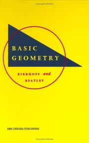 Cover of: Basic geometry | George David Birkhoff