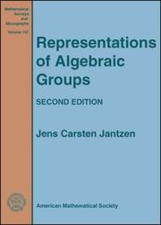 Cover of: Representations of algebraic groups