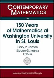 Cover of: 150 years of mathematics at Washington University in St. Louis |