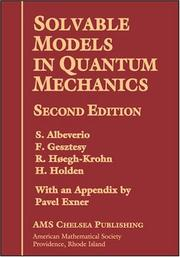 Cover of: Solvable models in quantum mechanics |