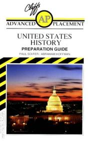 Cover of: Cliffs advanced placement United States history examination: preparation guide