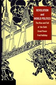 Cover of: Revolution and World Politics | Fred Halliday