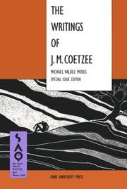 Cover of: The Writings of J.M. Coetzee (The South Atlantic Quarterly, Winter 1994, Vol 93, No 1)