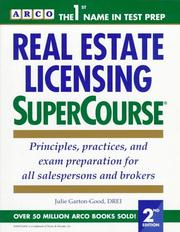 Cover of: Real Estate Licensing Supercourse | Arco