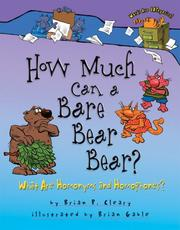 Cover of: How much can a bare bear bear?