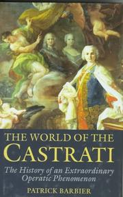 Cover of: The World of the Castrati