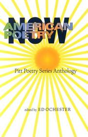 Cover of: American Poetry Now