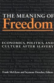 Cover of: The Meaning of Freedom | Frank McGlynn