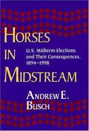 Cover of: Horses in Midstream | Andrew E. Busch