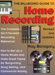 Cover of: The billboard guide to home recording