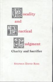 Cover of: Locality and practical judgment: charity and sacrifice