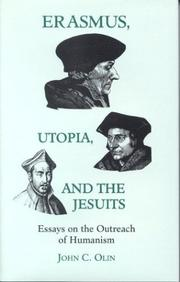 Cover of: Erasmus, utopia, and the Jesuits