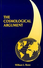 The cosmological argument by William L. Rowe