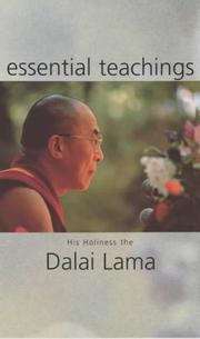 Cover of: Essential Teachings: his holiness the Dalai Lama