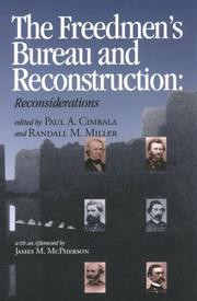 Cover of: The Freedmen's Bureau and Reconstruction