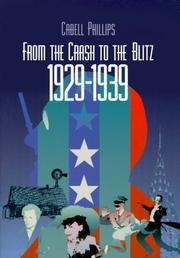 Cover of: From the crash to the blitz, 1929-1939