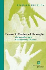 Cover of: Debates in Continental Philosophy