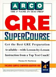 Cover of: GRE supercourse