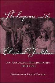 Cover of: Shakespeare and the classical tradition | John Lewis Walker
