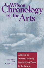 Cover of: The Wilson chronology of the arts